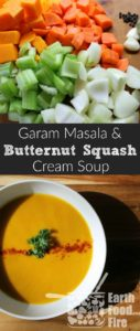 Warm up with this simple, from scratch, butternut squash soup with curry. An ideal freezer meal or recipe for batch cooking!