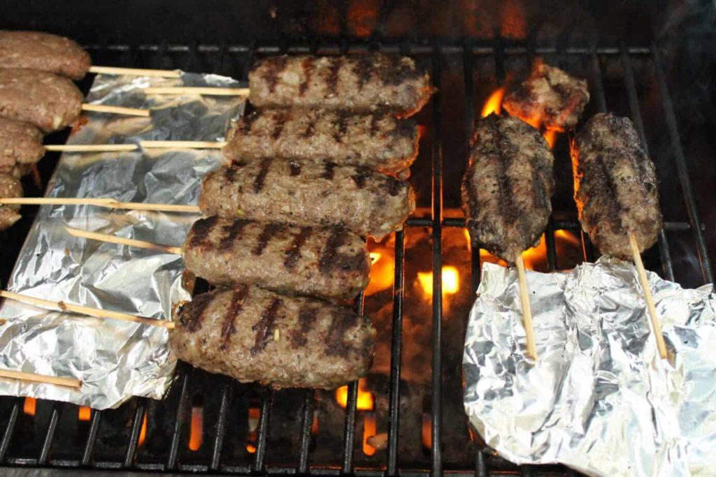 Grilled Beef Kofta Kebab Skewers -