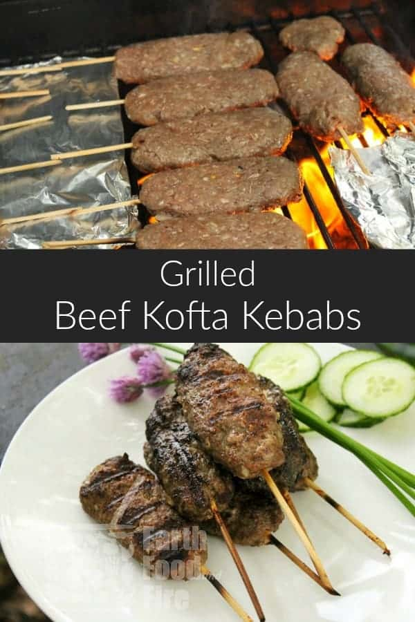 Aromatic, and full of flavor, this grilled beef kofta kebab recipe packs a delicious punch and ideal for grilling with family and friends. Serve the kofta kebab with rice or salad. #turkish #beef #kofta #kebab