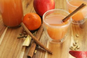 A warm mulled apple cider, perfect to relax with on a cool fall day.
