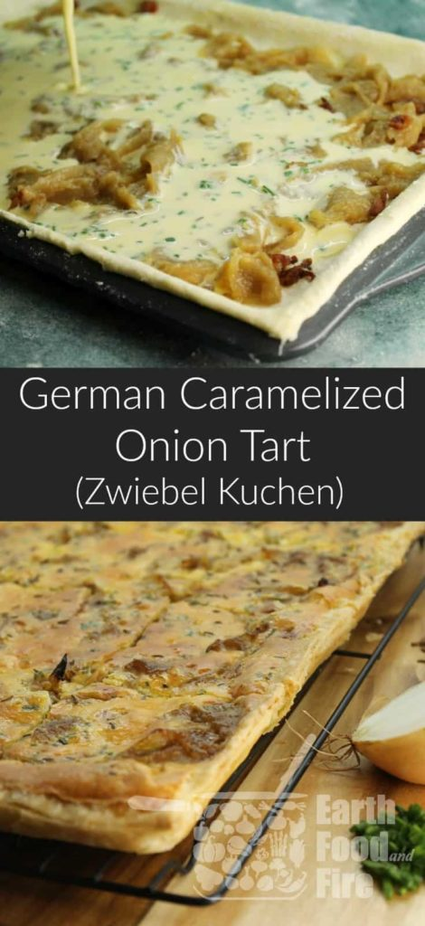 A delicious and easy to make tart, perfect served with a simple salad for a light lunch or supper or served as an appetizer. #appetizer #oniontart #caramelizedonion #savory