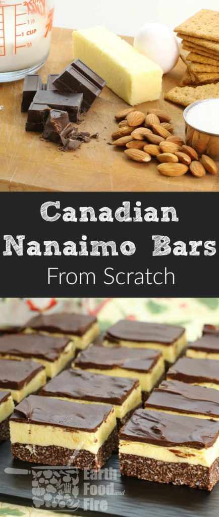 Learn how to make this Canadian treat at home. Nanaimo Bars are a wonderfully rich and creamy treat during the holidays. #baking #desserts #squares #nanaimobars #nanaimo #christmas #canadaday