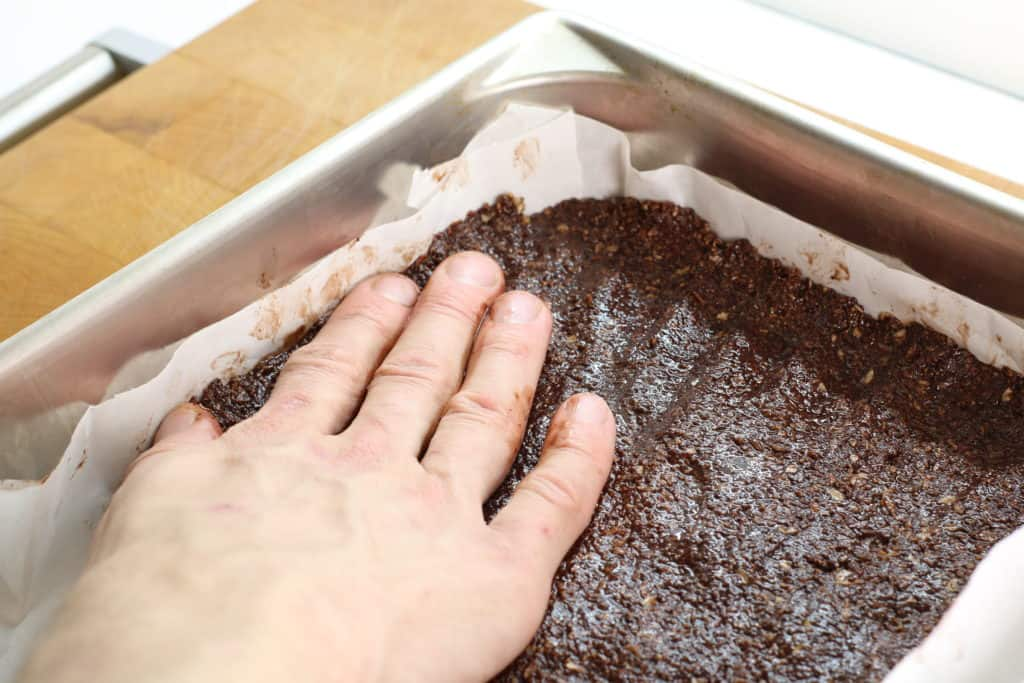 Making the base for Nanaimo Bars is super easy!