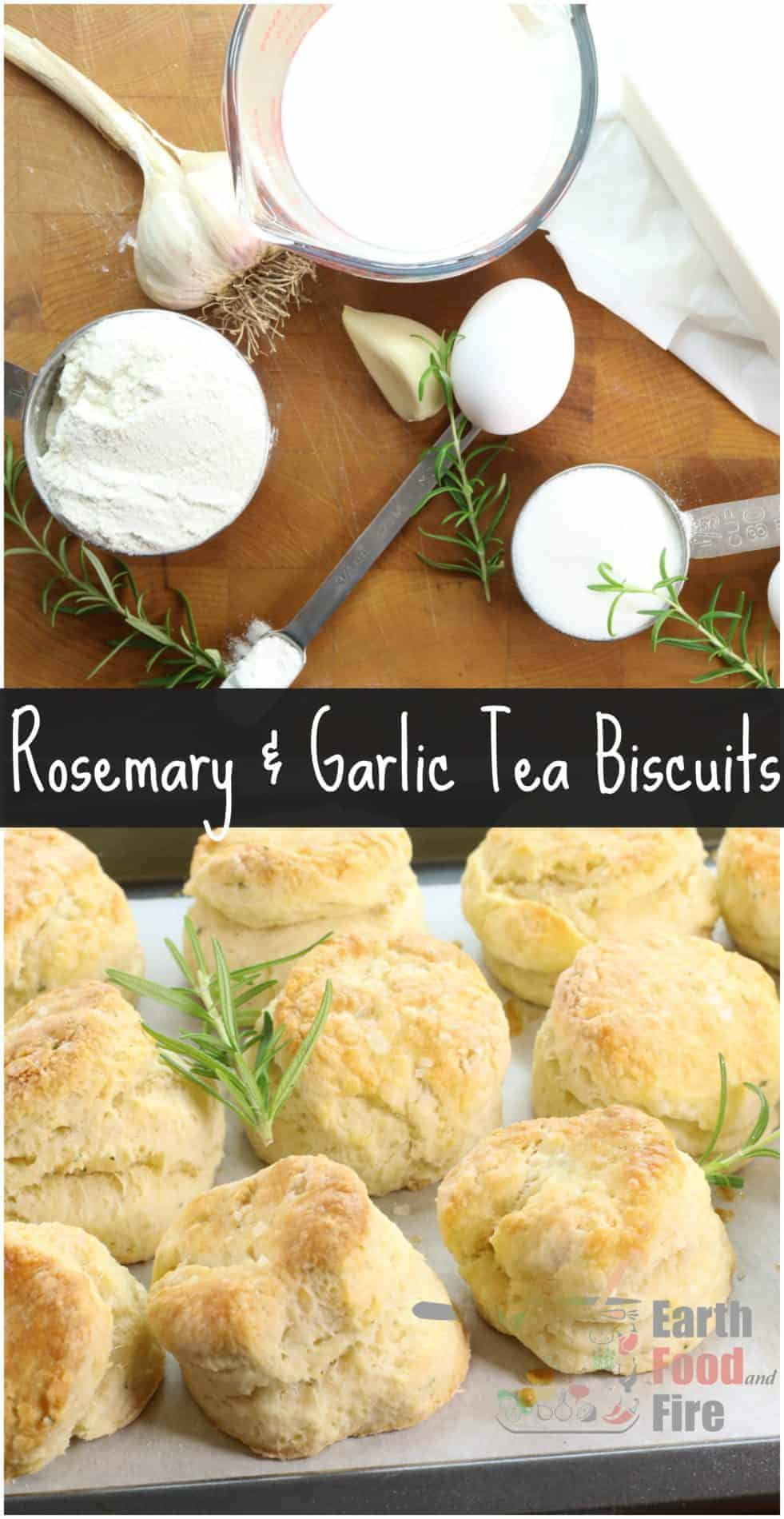 Delicious Rosemary and Garlic Biscuits. The perfect addition to any family meal, try these homemade biscuits tonight! #biscuits #teabiscuits #homemade #fromscratch
