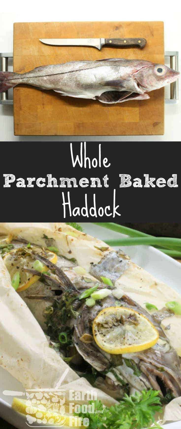 Baking fresh haddock in parchment ensures the fish remains moist & all the flavour stays in the dish.  The perfect 20 minute meal!