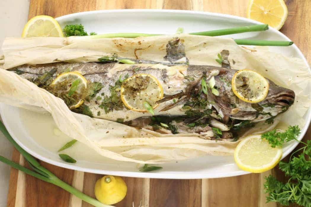 Baked Haddock in Parchment with Lemon and Herb