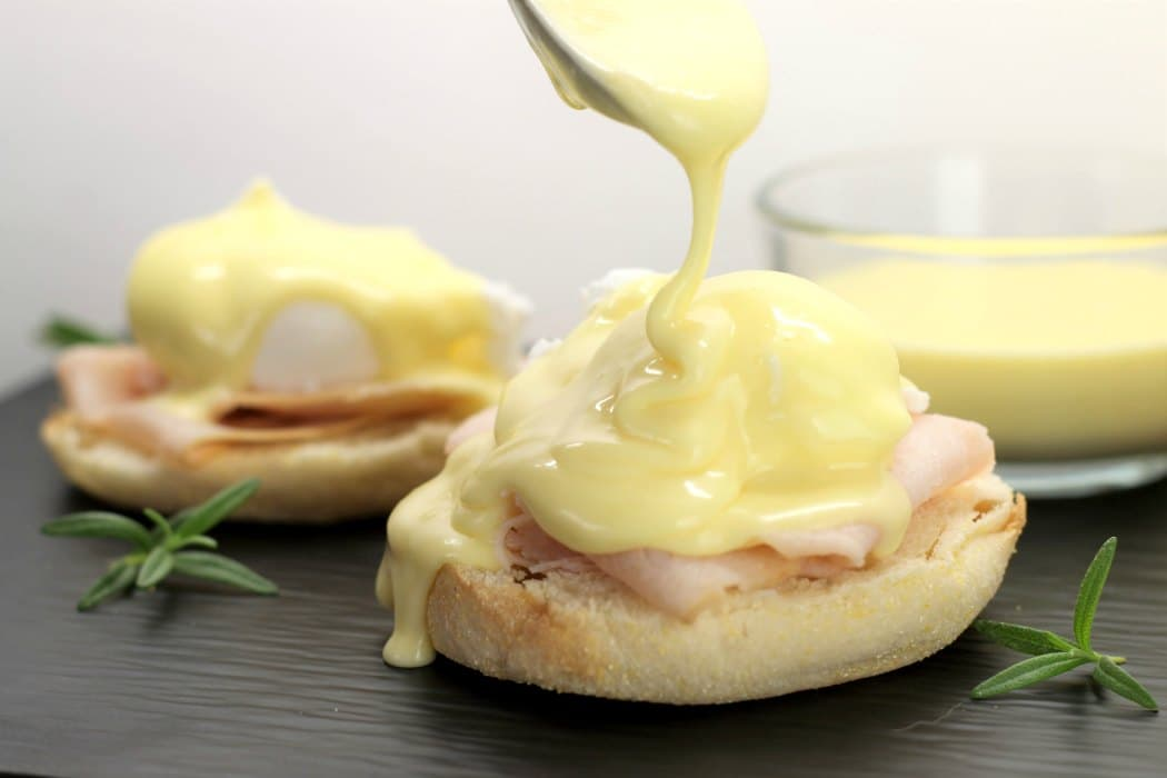 Delicious creamy hollandaise sauce is perfect on poached eggs, salmon and even vegetables such as asparagus.