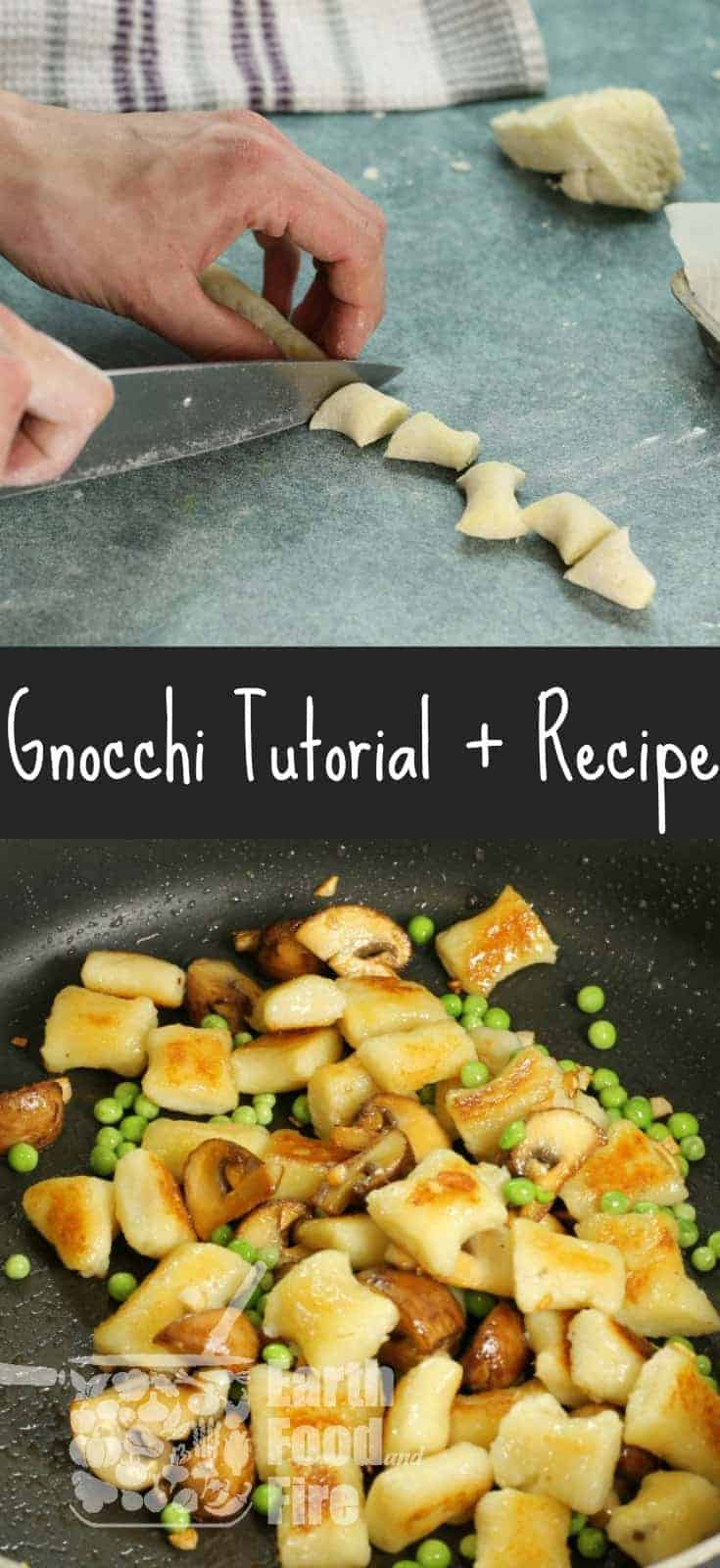 Making gnocchi is not as hard as it may appear. Learn how to make potato gnocchi at home, just like the pros and create a tasty dish with mushrooms and peas.