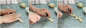 Rolling gnocchi is easy and fun! A great way to make pasta at home.