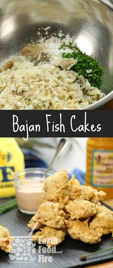 An easy to make 'fritter like' fish cake, these Bajan Fish Cakes featuring salt cod, can be found all over Barbados. Perfect finger food for Summer BBQ's, family gatherings or parties!