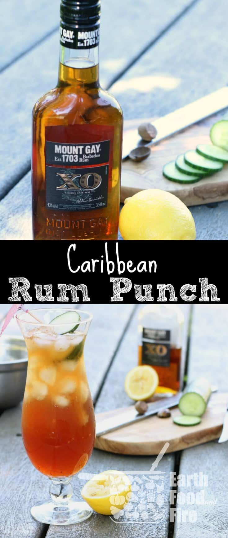 This Bajan Rum Punch recipe is easy to make and requires no special skills. Whip this drink up for Canada Day or any summer party! #rumpunch #rum #drinks #cocktails