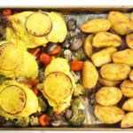 Healthy Garlic & Lemon Roasted Sheet Pan Chicken.Ideal for busy families with little time to cook!