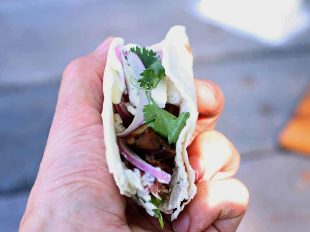 Marinated steak tacos are the best gourmet snack you'll ever eat!