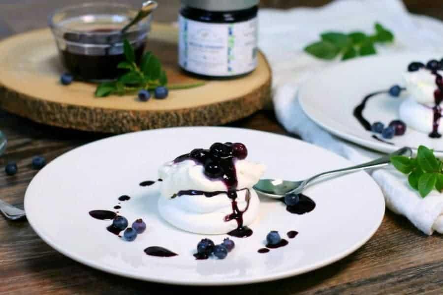 Blueberry Pavlova - Simple & Elegant