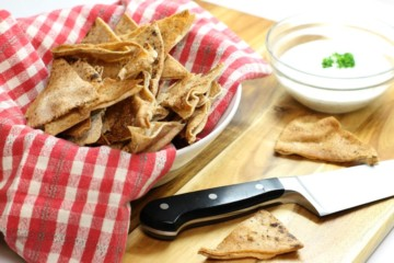 Homemade pita chips are an easy and healthy snack great for after school or simply when a chip craving hits.