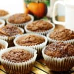 Pumpkin breakfast muffins are easy to make and a great on the go breakfast full of pumpkin flavor!