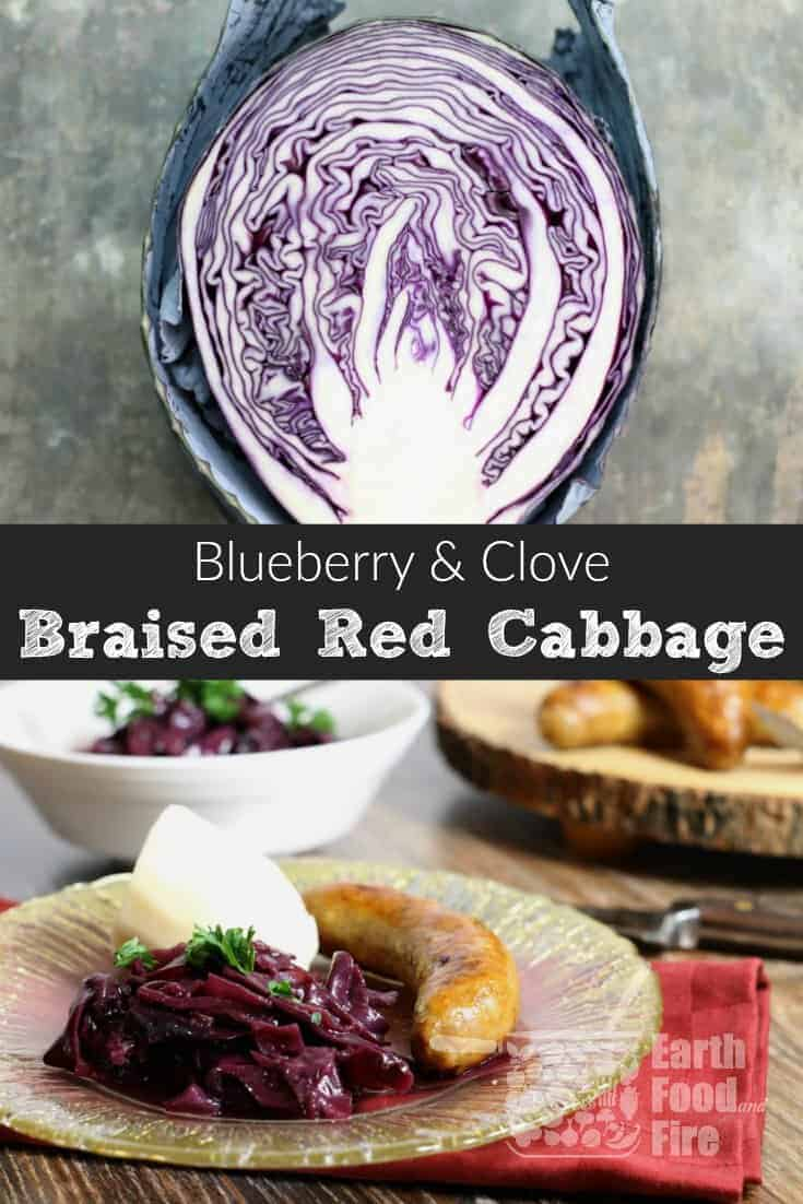 A year round popular side dish in Germany, braised red cabbage or rotkohl makes a delicious and healthy addition to meats and fancy holiday dinners. #braised #redcabbage #rotkohl #christmas