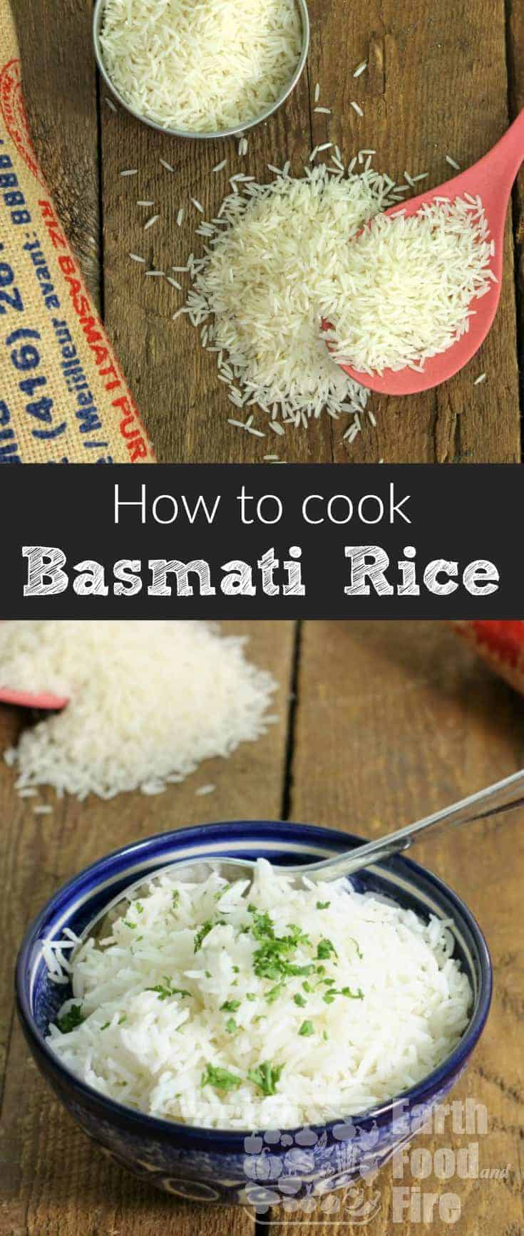 Cooking basmati rice at home is an essential skill everyone should know. Cook perfect and nutritious basmati rice at home consistently with this simple to follow guide! #basmati #rice #glutenfree #healthy #cookingskills #fromscratch