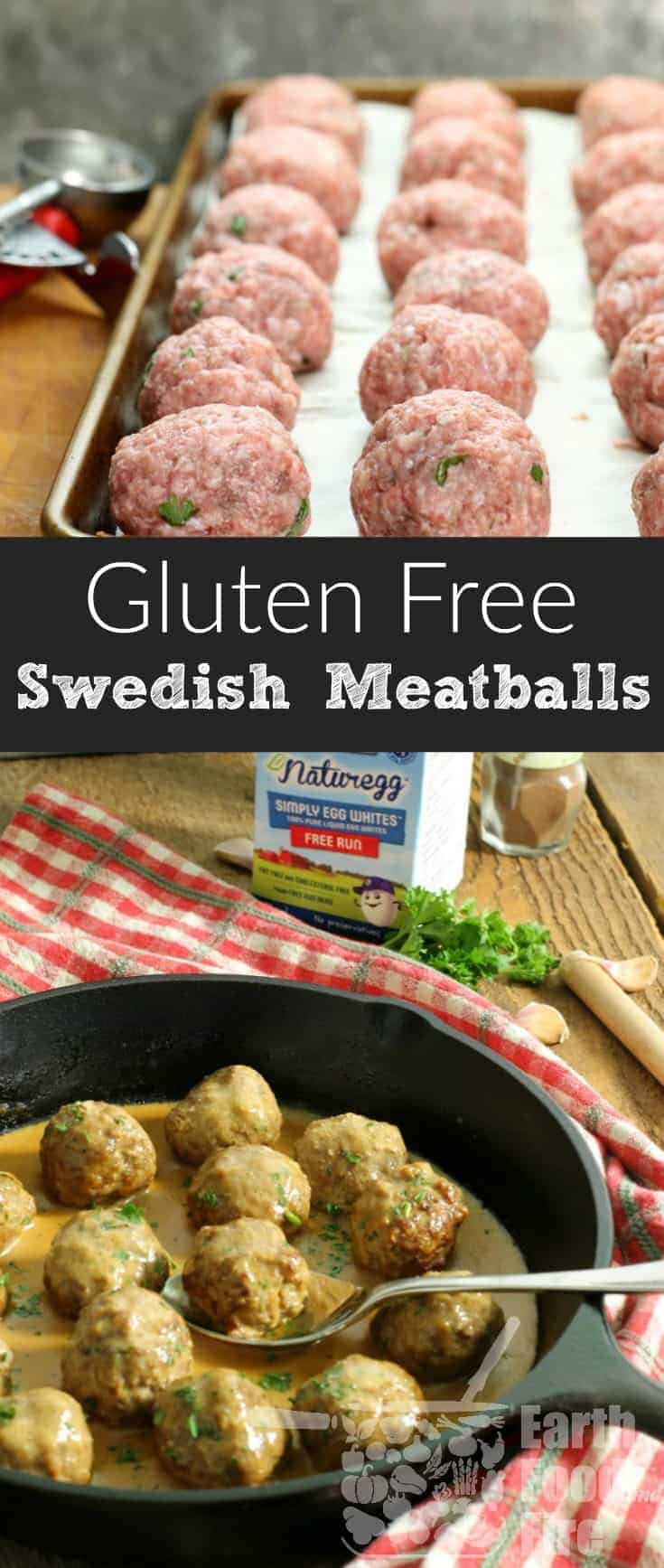 These freezer friendly gluten free Swedish meatballs made with @BurnbraeFarms Naturegg Simply Egg Whites. Stock your freezer with this healthy meal option ready in just 30 minutes! #SimpleResolutions #sponsored #swedishmeatballs #glutenfree