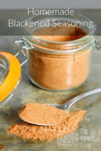 Make your own homemade blackening spice to add flavor to fish, shellfish, meats, and even vegetables! #cajun #blackenedspice #spice #diy