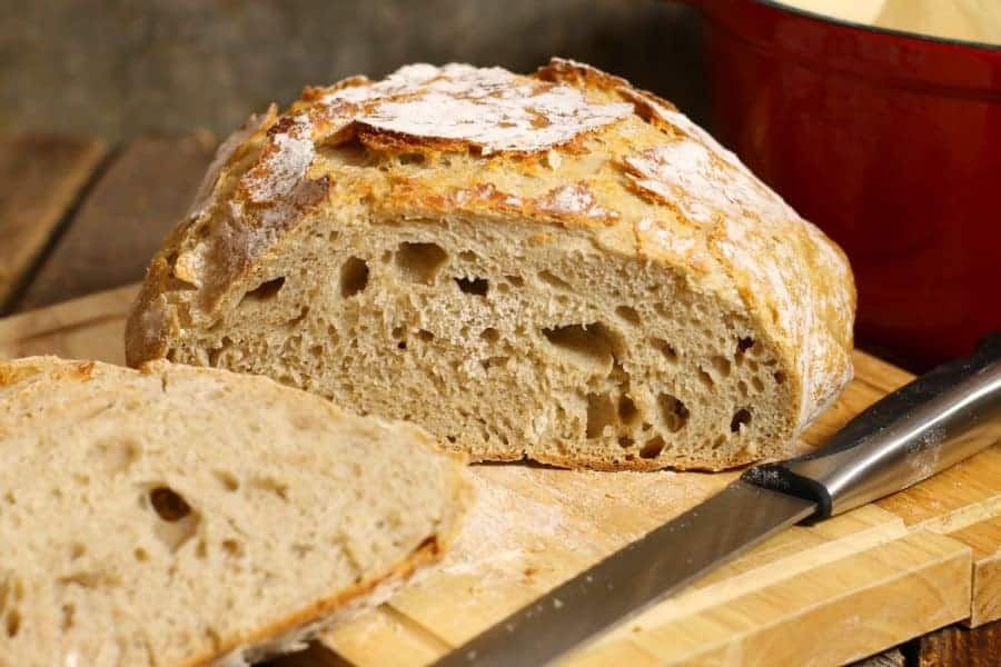 No Knead Sourdough Bread Earth Food And Fire