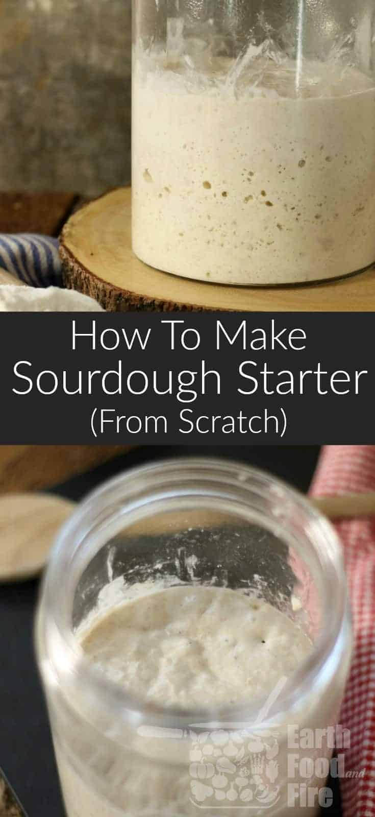 Learn how to make sourdough starter at home, and continue a centuries old tradition! This easy DIY guide covers everything you need to know to grow your own sourdough starter from scratch with no special ingredients. #sourdough #breadrecipes #sourdoughstarter #bread
