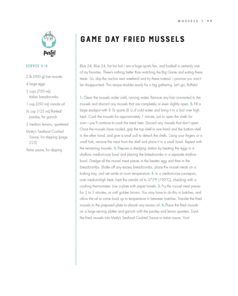 Game Day Fried Mussels Recipe - The Great Shellfish Cookbook |  Copyright © 2018 Matt Dean Pettit
