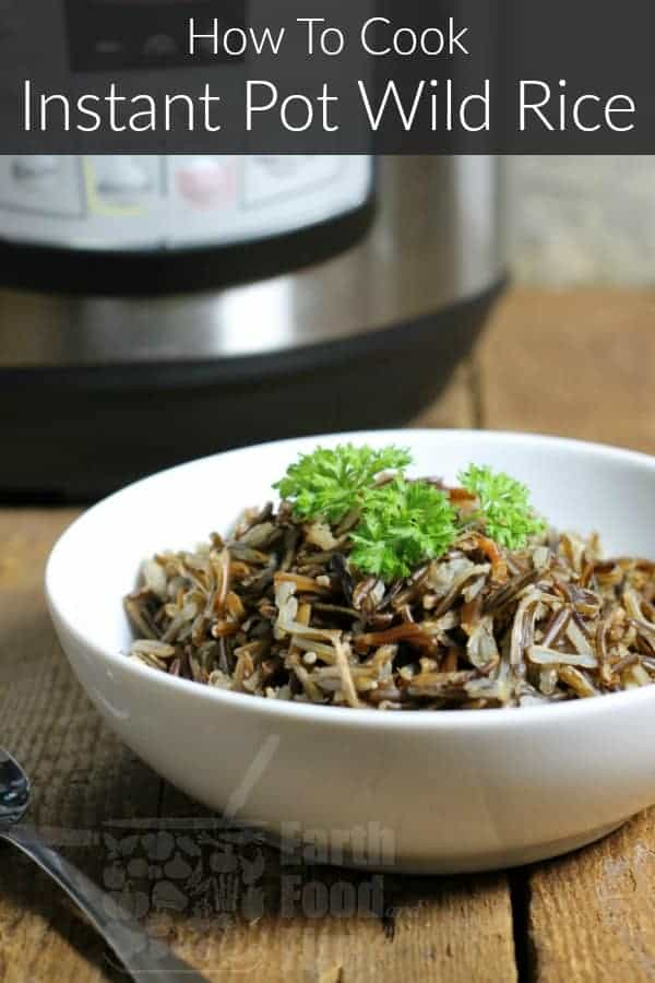 Instant Pot wild rice is so easy to cook! Set it and forget it for an easy and healthy side dish with no extra work involved! #instantpot #wildrice #pressurecooker #wholegrains