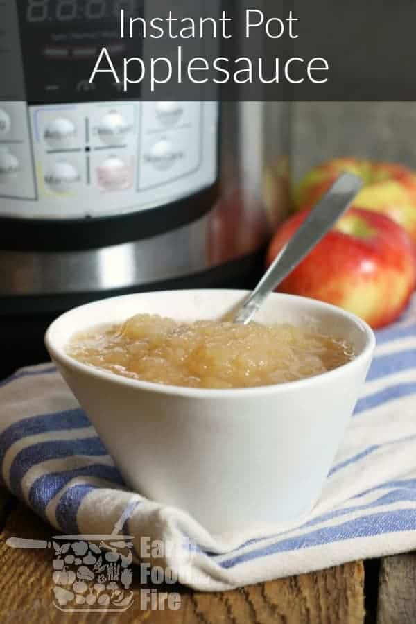 Instant Pot Applesauce is the easiest way to make applesauce at home! A healthy, nutritious snack the whole family will enjoy. Freeze it, can it, or simply keep it in the refrigerator ! #instantpot #applesauce #glutenfree #healthyrecipes
