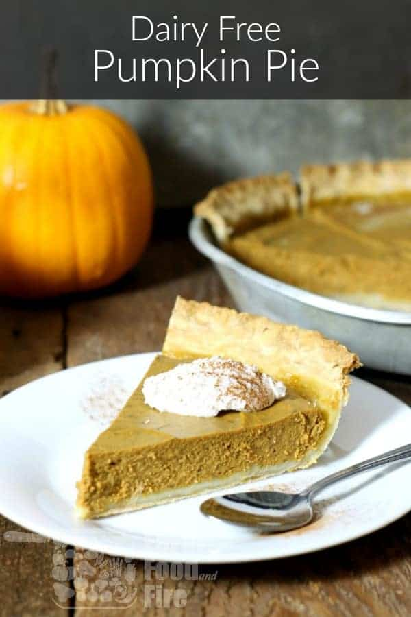 Don't miss out on pumpkin pie just because you're lactose free! This dairy free pumpkin pie is made using coconut milk, with easy to follow instructions. #pumpkinpie #lactosefree #dairyfree #thanksgiving