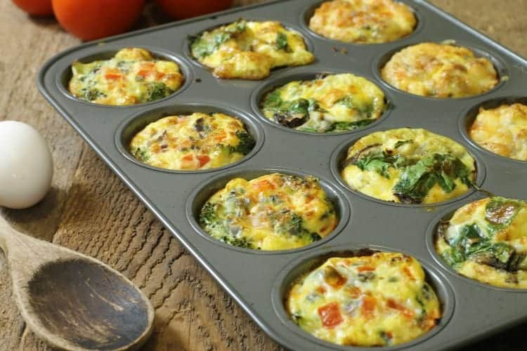 On The Go Breakfast Egg Muffins 3 Ways Earth Food And Fire