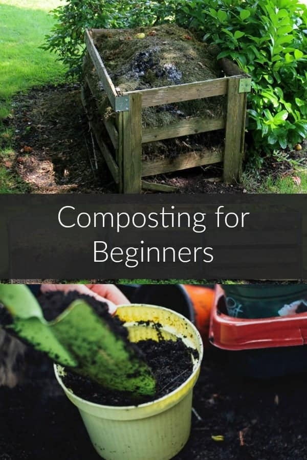 a collage of compost at various stages